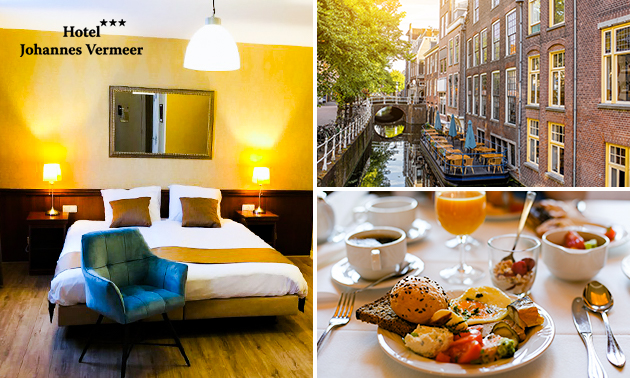 Overnachting(en) voor 2 in hartje Delft + ontbijt
