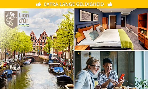 Overnachting + ontbijt voor 2 in Haarlem
