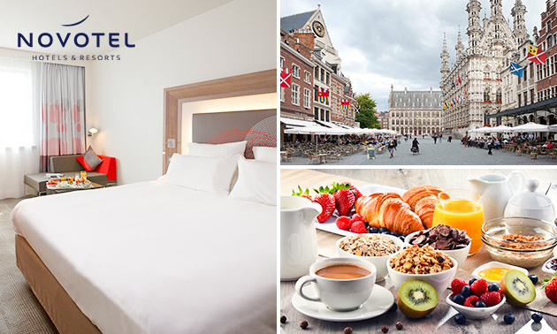 Luxe overnachting voor 2 + ontbijt + late check-out in Leuven