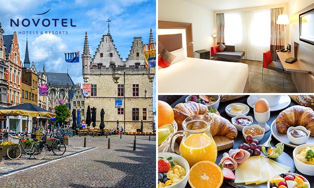 Overnachting voor 2 + ontbijt in hartje Mechelen