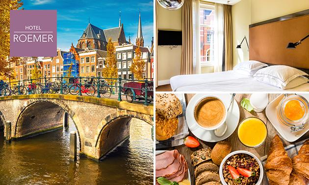 Voor 2 personen: overnachting + ontbijt in hartje Amsterdam