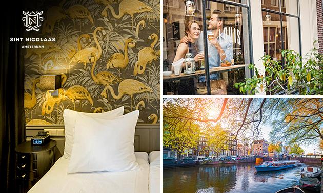 Overnachting(en) + ontbijt + drankje voor 2 in hartje Amsterdam