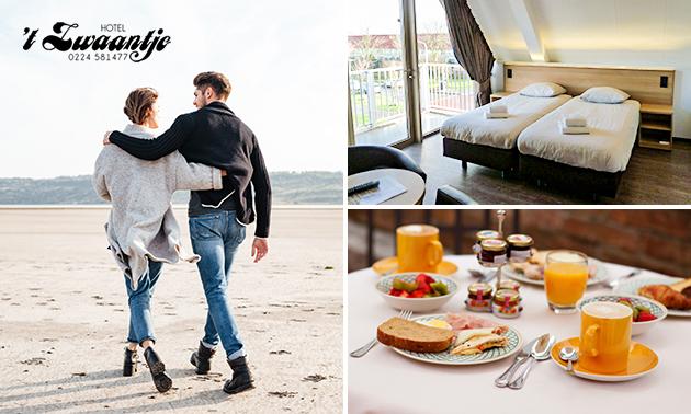 Overnachting + ontbijt voor 2 bij het strand