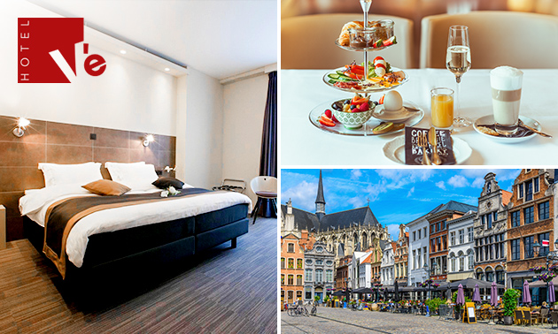 Overnachting voor 2 + ontbijt + late check-out in Mechelen