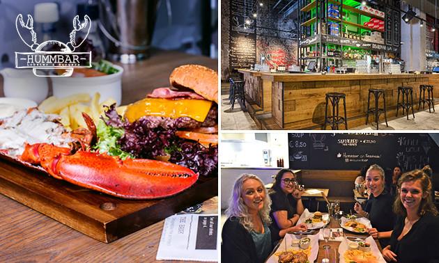 Diner met burger + kreeft in hartje Amsterdam