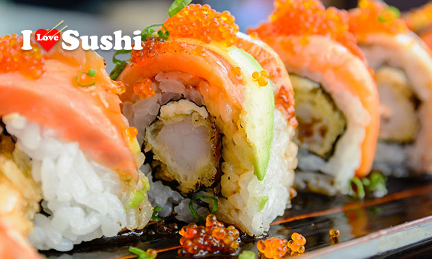 Sushibox (30 stuks) van I Love Sushi Leiden