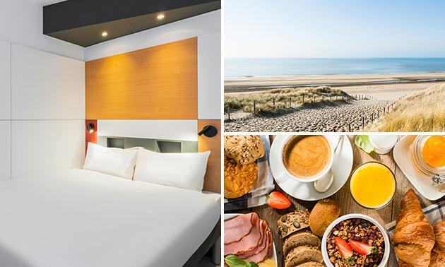 Overnachting + ontbijt voor 2 nabij de kust