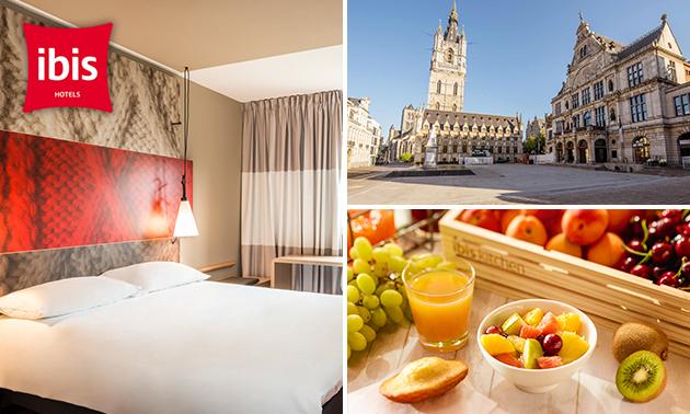 Overnachting voor 2 + ontbijt + drankje in hartje Gent
