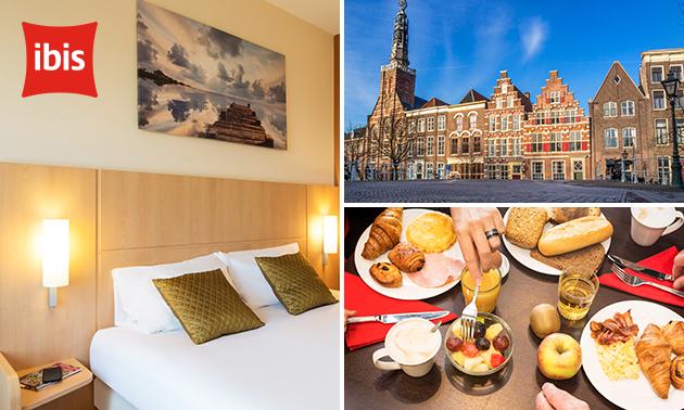 Overnachting voor 2 + diner + ontbijt in hartje Leiden