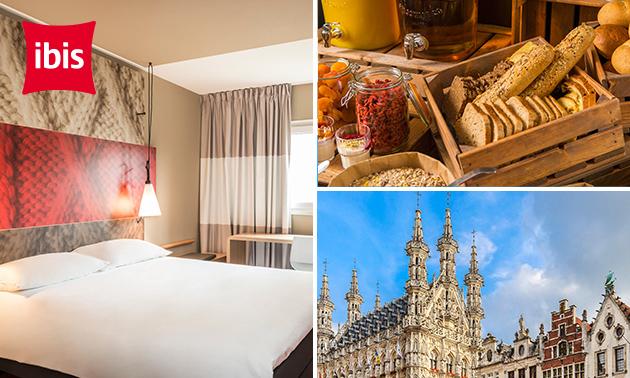 Overnachting voor 2 + ontbijt in hartje Leuven