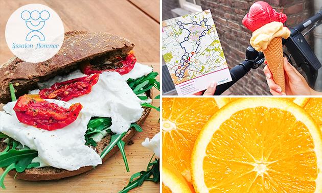Wandel- of fietsarrangement + ijs + lunch bij IJssalon Florence