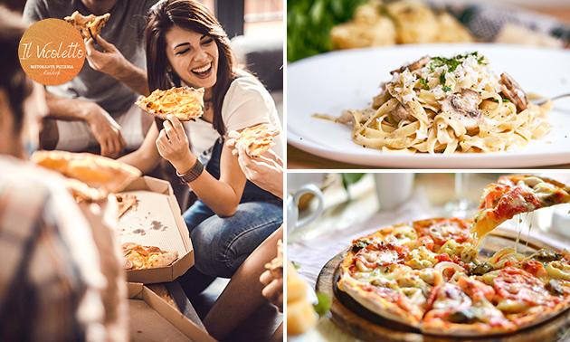 Thuisbezorgd of afhalen: pizza/pasta of 3-gangendiner