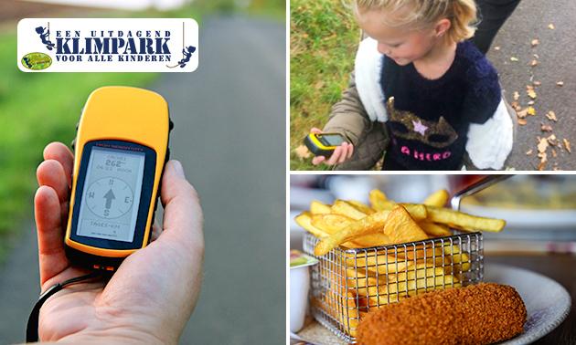 GPS-tocht + drankje + ijsje + friet met snacks en saus