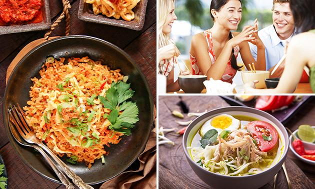 Afhalen: 3-gangen rijsttafel bij Surabaya