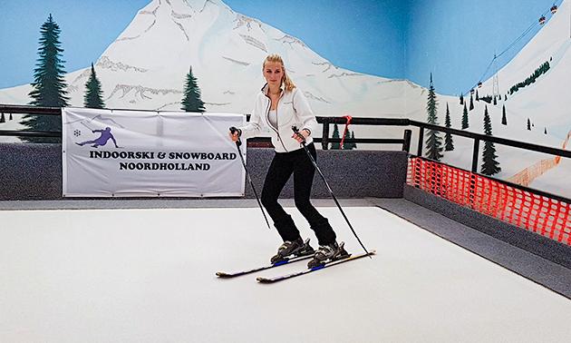 Ski- of snowboardles (1 uur)