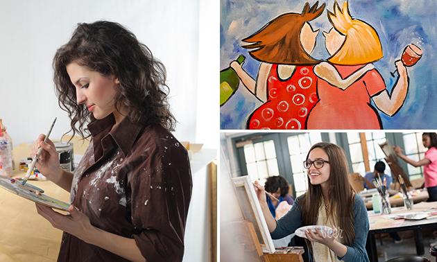 Workshop schilderen (2,5 uur) + koffie/thee
