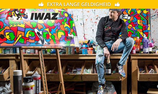 Workshop schilderen (2,5 uur) bij Iwaz Art