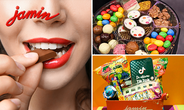 Afhalen: snoepbox of 750 gram chocolade bij Jamin