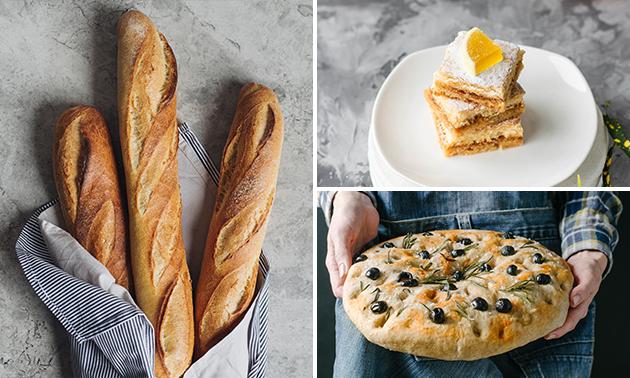 Afhalen: verwentas met gebak, brood en focaccia voor 4