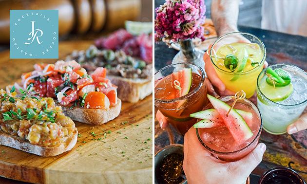 2 cocktails of cocktail + bruschetta in Delft