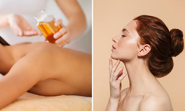 Gezichtsbehandeling (60 min) + massage (30 min)