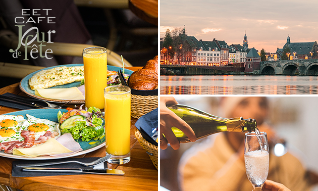 Luxe ontbijt + bubbels op het terras bij Jour de Fête
