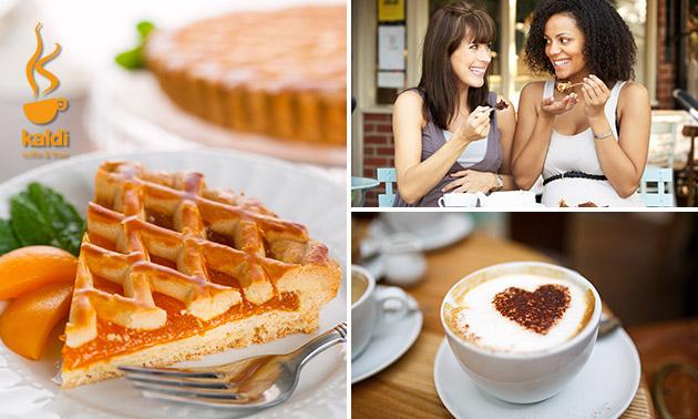 Koffie + gebak voor 2 bij Kaldi in hartje Maastricht