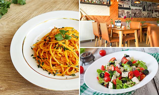 Afhalen: Griekse pasta + salade + frisdrank