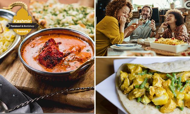 Afhalen: Surinaamse/Indiase maaltijd + drankje bij Kashmir