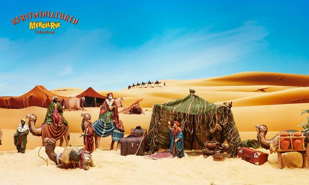 Entree voor de Kerstminiaturen in MergelRijk