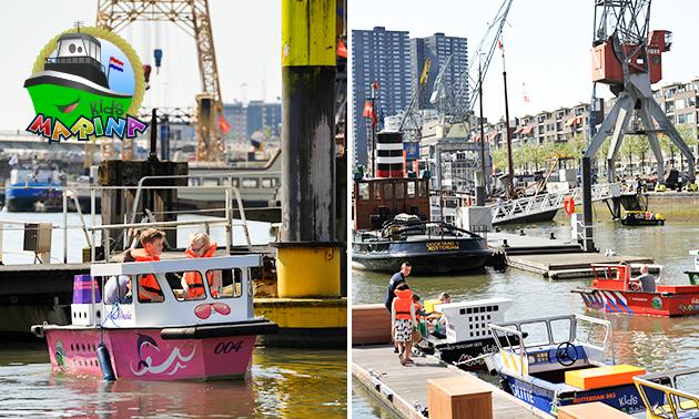 Bootje varen voor het hele gezin in hartje Rotterdam