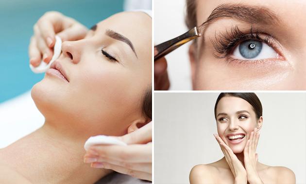 Wenkbrauwen epileren en/of verven óf gezichtsbehandeling