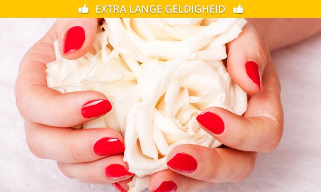 Gellak + versteviging + mini-manicurebehandeling