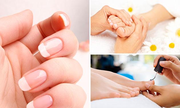 Spa-manicure of -pedicure en gellak (45 min)