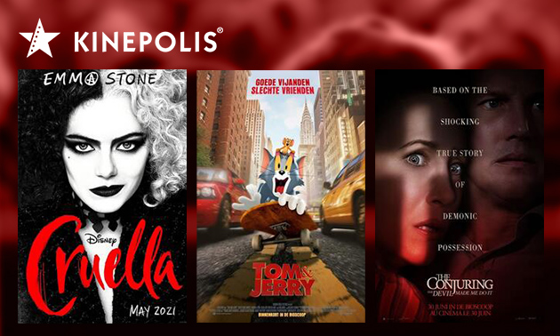 Bioscoopkaartje voor Kinepolis