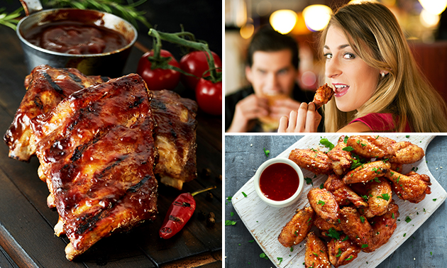 All-You-Can-Eat spareribs, kipsaté & chicken wings