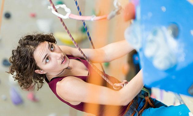 Groepsles of privéles klimmen