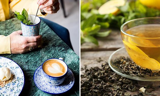 Waardebon voor koffie en thee of servies