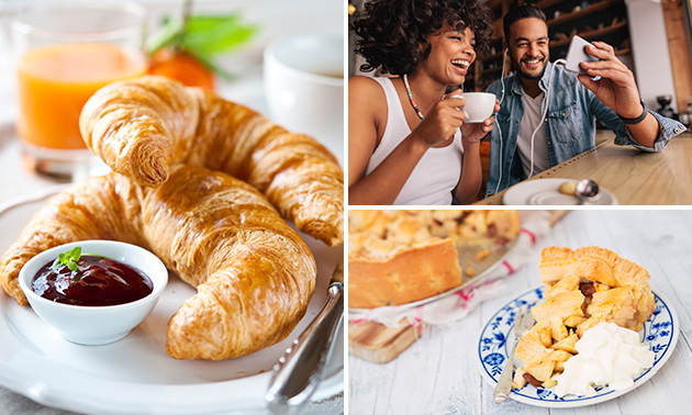 Koffie/thee + gebak of ontbijt bij Délifrance