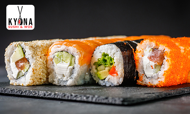 Afhalen: sushibox (24 tot 66 stuks) of pokébowl in hartje Roermond