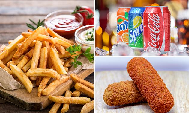 Friet + snack + saus + blikje fris in hartje Enschede