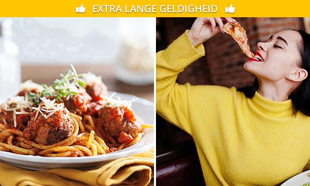 Pasta of pizza naar keuze + frisdrank om af te halen