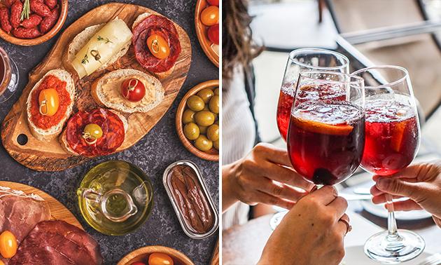Verrassingsplank en een glas Sangria