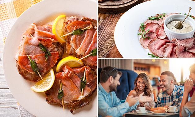 Italiaanse 3-gangenlunch of -diner à la carte