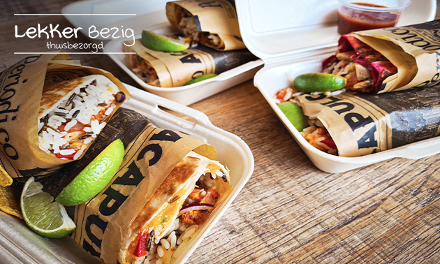 Thuisbezorgd: burrito naar keuze + drankje naar keuze