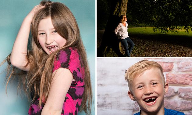 Fotoshoot voor 1 tot 6 personen + digitale foto's