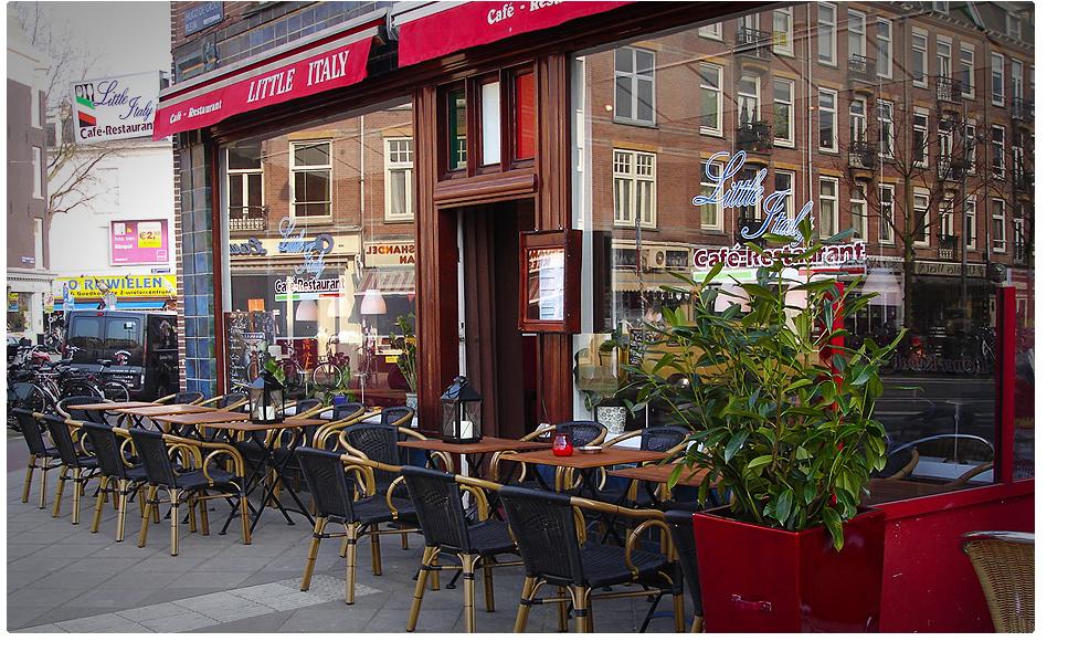 Little Italy Is Een Authentiek Italiaans Restaurant Gelegen Aan Het Hugo De Grootplein Rand Van Centrum Amsterdam Chef Werkt Alleen Maar