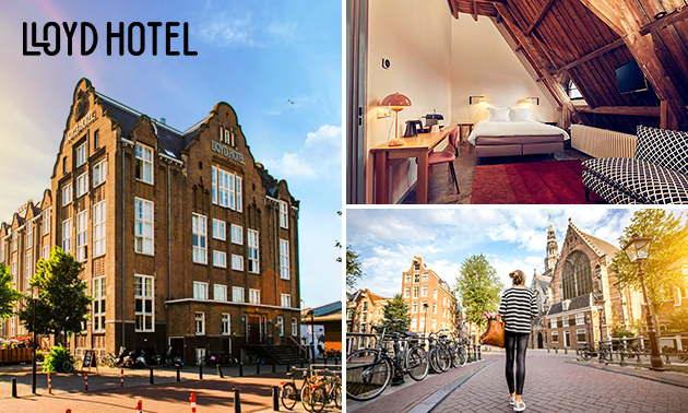 Overnachting + ontbijt voor 2 aan 't IJ in Amsterdam-Oost