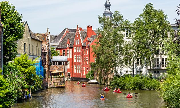 Kajaktocht in hartje Gent