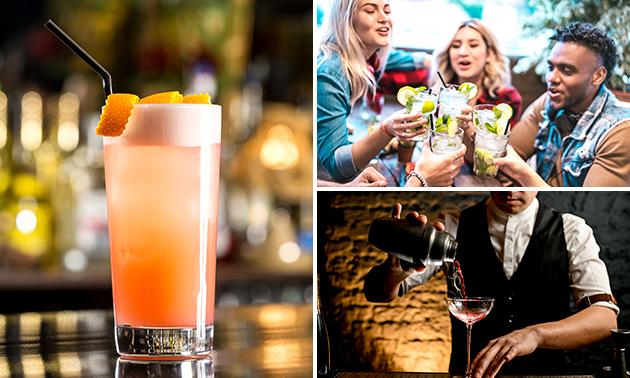 2 cocktails naar keuze + borrelplank bij De Bieb